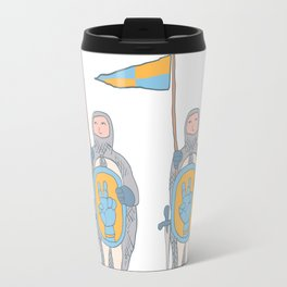 Knights in armour with shield and sword. Travel Mug