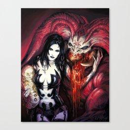 Blood Rituals by BAXA Canvas Print