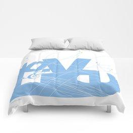 Love & Live (lines1) Comforters