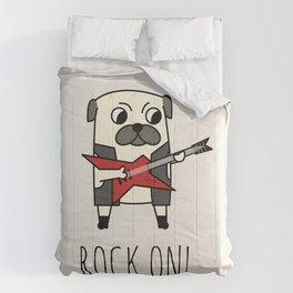 Rockstar Pug Comforters
