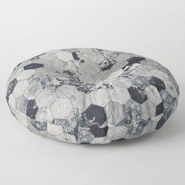 Hexagonal marble tiles Floor Pillow