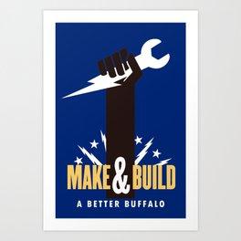 BUILD BUFFALO Art Print
