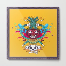 Demonio Azteca Metal Print
