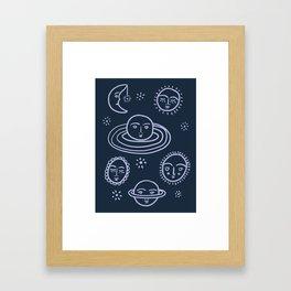 Cranky Planets Astro Print Framed Art Print