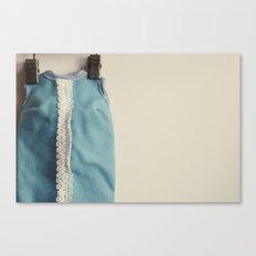 Doll Closet Series - Blue Dress Canvas Print