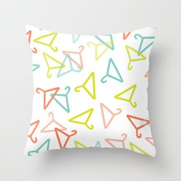 Coloured Hangers Throw Pillow