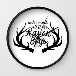Love Those Raven Boys Wall Clock