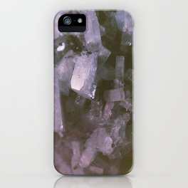 Purple Geodes iPhone Case