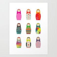 Russian Dollz Art Print