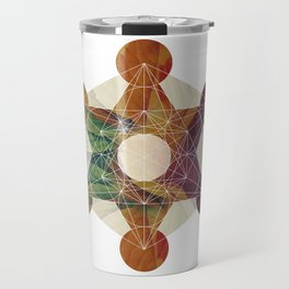 Balancing Energy: Metatron's Cube Travel Mug