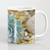 succulent Mugs featuring Succulent by Mistflower