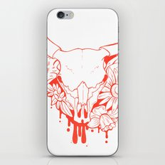 Flower Power Skull iPhone & iPod Skin