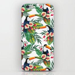 Tropical birds. Gouache iPhone Skin