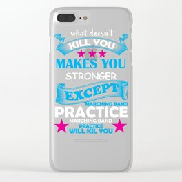 Marching Band Music Director Design Clear iPhone Case