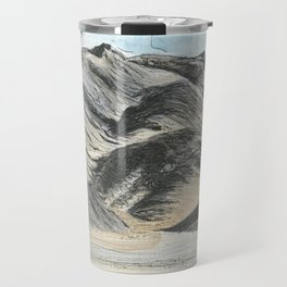 Watercolour and pen mountains. Travel Mug