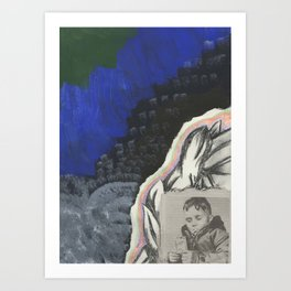 Somewhere Along the Way Childhood was Lost Art Print
