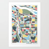 portland Art Prints featuring Portland. by Studio Tesouro