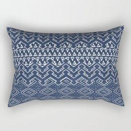 Akra in Navy Blue Rectangular Pillow