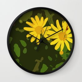 Yellow Daisies Wall Clock