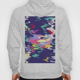 Colorful paint on a blue background Hoody