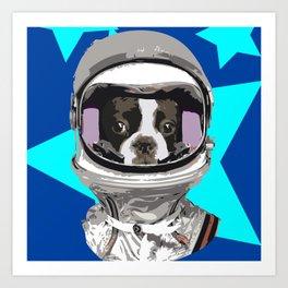 French Dogstronaut Art Print