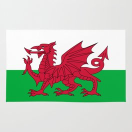 National flag of Wales - Authentic version Rug