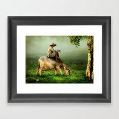 Resting Shepherd Framed Art Print