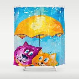 LET IT'S RAIN Shower Curtain