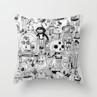 50s Throw Pillows featuring US AND THEM  by ALVAREZ