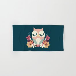 Floral Owl / Cute Animal Hand & Bath Towel