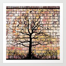 Graffiti Tree Art Print
