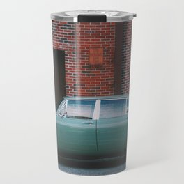 Vintage Car On The Street Travel Mug