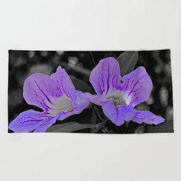 Twins On Grey Beach Towel