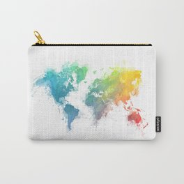 World Map splash 1 Carry-All Pouch