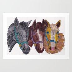 Horse Triptych #2 Art Print