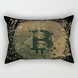 Bitcoin cryptocurrency blockchain Rectangular Pillow