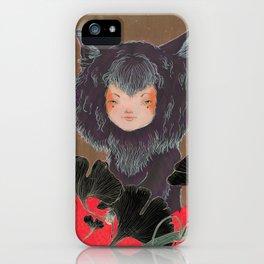 Fox Spirit Kitsune in Gingko iPhone Case