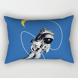 Astronaut Floating in Blue Space Rectangular Pillow
