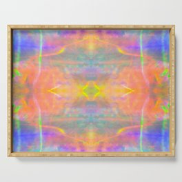 Prisms Play of Light 2 Mandala Serving Tray