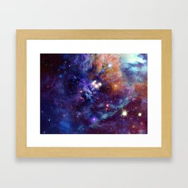 Bright nebula Framed Art Print