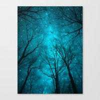 sky Canvas Prints featuring Stars Can't Shine Without Darkness  by soaring anchor designs