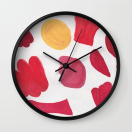 37  | 190408 Red Abstract Watercolour Wall Clock