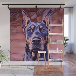 I Love My Doberman Pinscher Wall Mural