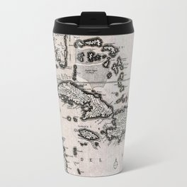 Vintage Americas Map Travel Mug