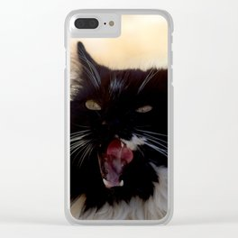 bâillement chat Clear iPhone Case