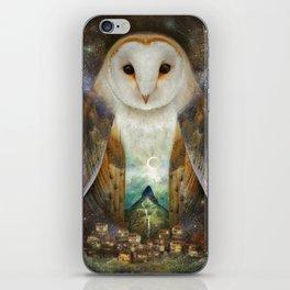 Owl, Mountain, Moon iPhone Skin