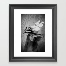 If I were a ship Framed Art Print