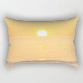 Peachy sunrise seascape Rectangular Pillow