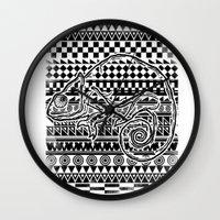 ethnic Wall Clocks featuring ethnic by jun salazar