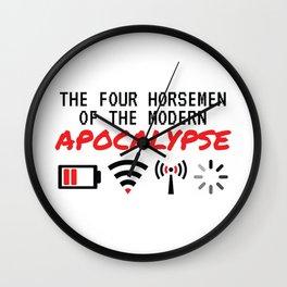 The Four Horsemen Of The Modern Apocalypse Wall Clock